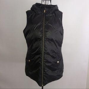 Michael KORS hooded vest down reversible medium